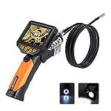 Depstech 3,5-Zoll-QVGA-LCD Digital Wasserdichte Endoskop 8,2 mm Durchmesser Boreskop Video-Endoskop...