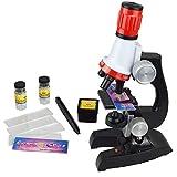 Comtervi Toys Mikroskop Kinder, Kinder Mikroskop mit LED Scientific Mikroskop Spielzeug, das erste Mikroskop-Kit Spielzeug 100x 400x 1200x für Kinder ab 3 4 5 6 7 8