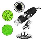 USB Mikroskop für Kinder 3 in 1 Digital Microscope, 1000 x Vergrößerung Magnification, mit 8-LEDs...