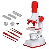Fozela Kinder Mikroskop, 100x 600x 1200x Junior Mikroskop Kit mit Integrierte LED-Elektrische Beleuchtung for Schüler und Kinder