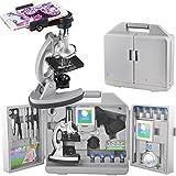 gosky Kinder Mikroskop Set mit Metall Arm und Fuß, 300x 600x 1200x Vergrößerungen, inkl....