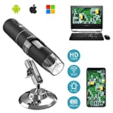 MoKo WiFi USB Digital Mikroskop, HD 2 MP Microscope, 1000 x Vergrößerung Mini Kinder Kamera...