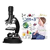 Fozela Kinder Mikroskop, 100x 600x 1200x Junior Mikroskop Kit mit Integrierte LED-Elektrische...