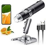 Drahtloses Digitales Mikroskop, Skybasic 50X bis 1000X WiFi Handgehaltenes Vergrößerung...