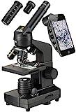 National Geographic 40-1280x Mikroskop mit Auflicht/Durchlichtbeleuchtung, Smartphone Halterung und...