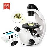 TELMU Mikroskop - Umgekehrtes Mikroskop mit Einer Vergrößerung von 40X-320X, wissenschaftliches...