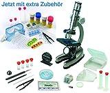 EDU-TOYS Mikroskop Zoom 100x – 900x im Handkoffer Lernmikroskop mit extra...