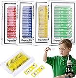 Kinder-Mikroskop-Objektträger für Kinder,48 Stücke Kunststoff, vorbereitet, Probe Tiere für...