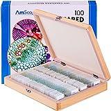 AmScope PS100A 100 biologische Dauerpräparate Lern Experiment Set Dauerpräparate Objektträger mit...