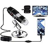 USB-Digitalmikroskop 40X bis 1000X, Bysameyee 8 LED-Vergrößerungs-Endoskopkamera mit Tragetasche...