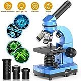 Emarth Mikroskop für Kinder Anfänger Jugendliche Studenten, 40X - 1000X Wissenschaftliches...